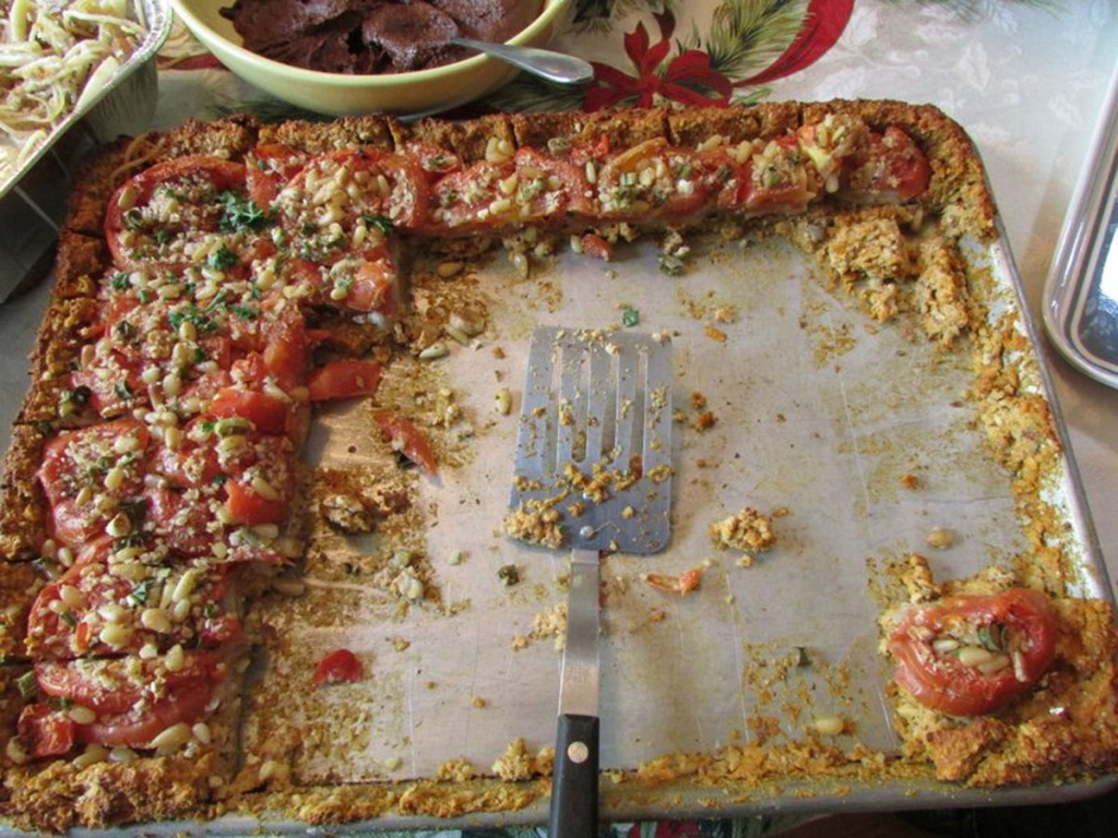 Tomato Nut Pie Leftovers