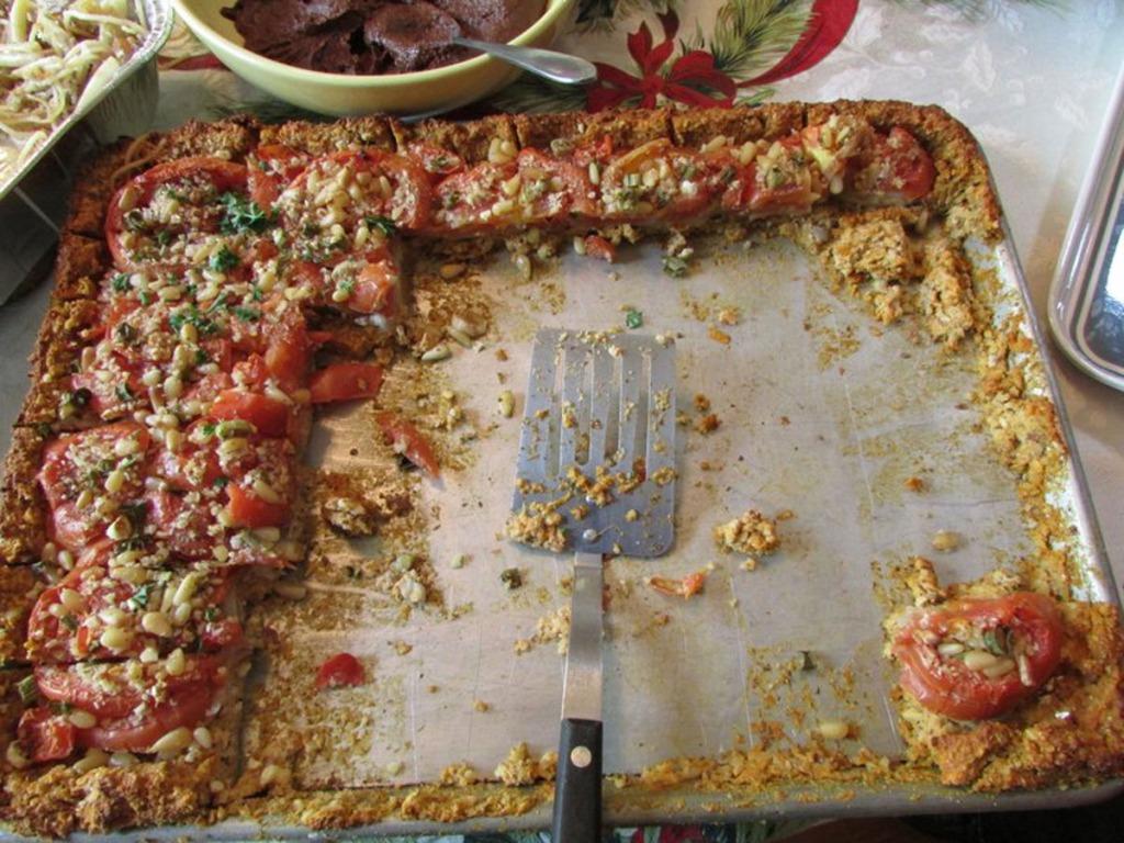 Tomato Nut Pie Leftovers