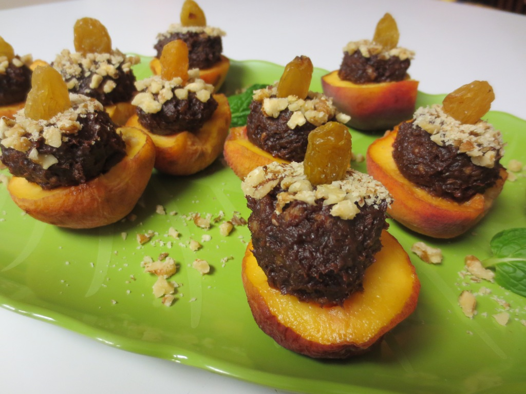 Chocolate Stuffed Peaches copy