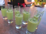 English Pea Soup Shooters