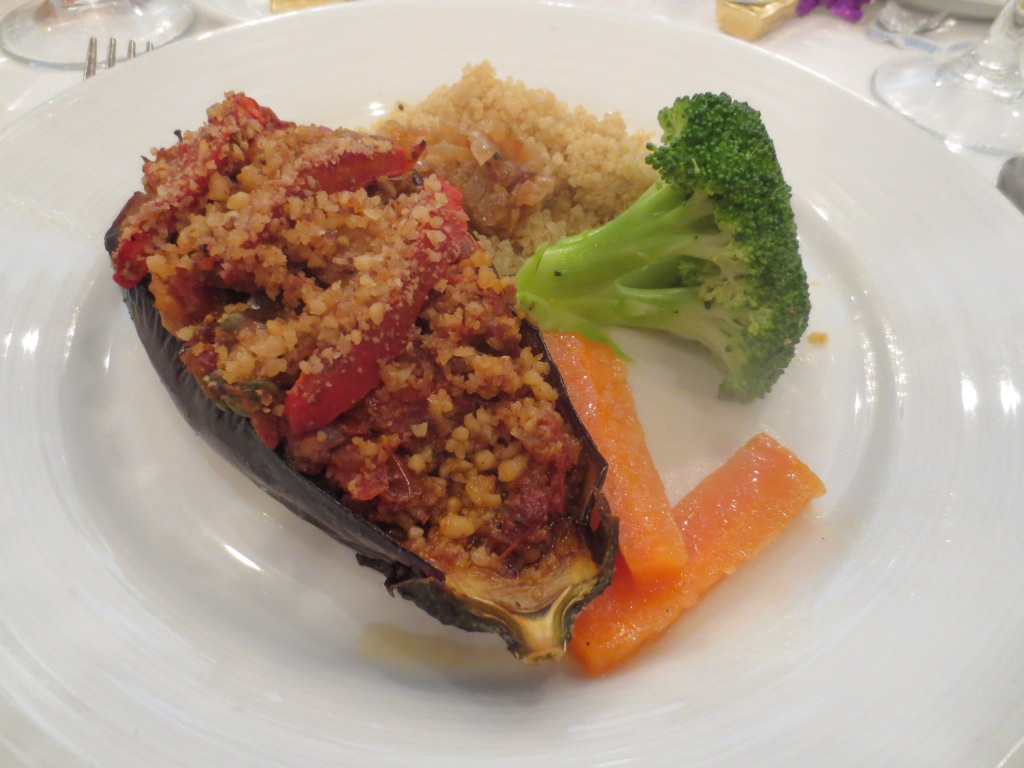 walnut stuffed eggplant